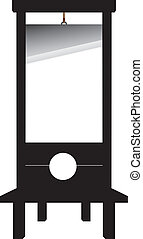 Guillotine, isolated on a white background for design