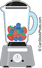 Blender - An image of a blender, half filled with fresh...