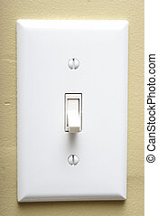 Light Switch - A closeup shot of a modern light switch on an...