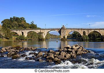 Ponte da Barca - ancient roman bridge of Ponte da Barca in...
