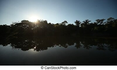 Amazon River With Blue Sky