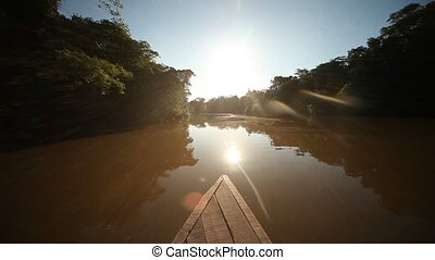 Amazon River With Blue Sky - Amazon River, Southamerica