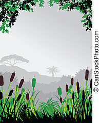 nature forest background - illustration of nature forest...
