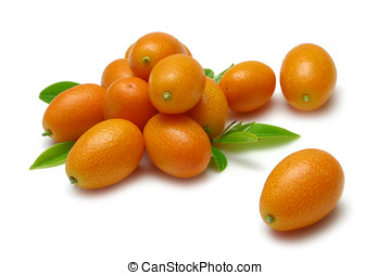 Kumquats on white