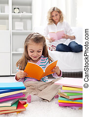 Shaping the habit of reading in kids - teaching by example