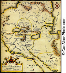 Map of ancient Armenia,Babylonia,Mesopotamia
