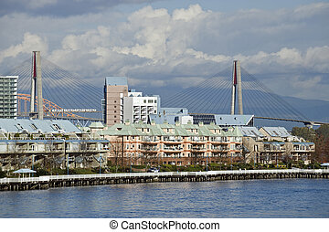 Modern city of New Westminster, British Columbia, Canada