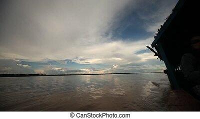 Boat At Cloudy Amazon, Peru - Cloudy Amazon, Peru