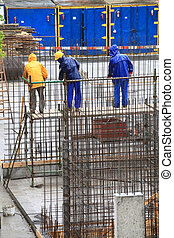 man, worker in construction building