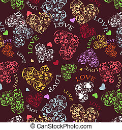 Decorative seamless with heart patt