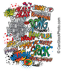 comic book words