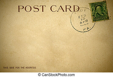 A distressed retro postcard from 1900s - A distressed retro...