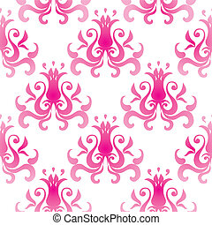 Pattern wallpaper - Vector seamless pattern wallpaper with...