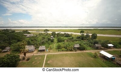 Aerial Of Amazon Area