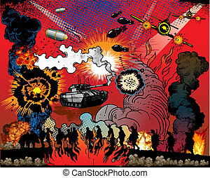 Comic book explosion - comic book explosion - Second World...