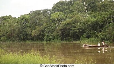 Boat At Amazon River, Peru