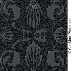 old style black and white seamless background