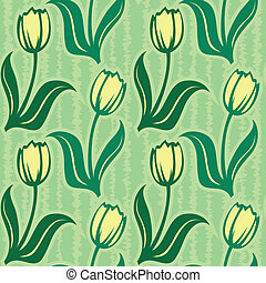 tulip seamless background pattern