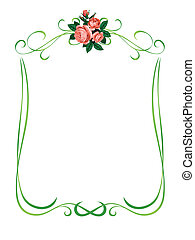 roses frame pattern background
