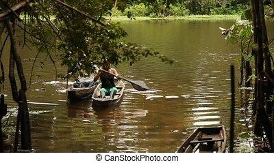 Small Boat At Amazon River - Boat At Amazon River, Peru