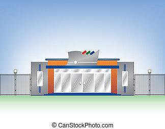 Building industrial facade