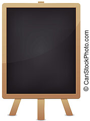 Empty Blackboard For Advertisement - Illustration of a blank...
