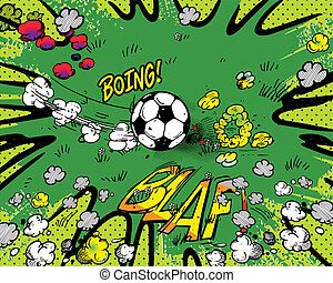 soccer cartoon background
