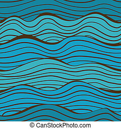 Seamless sea waves pattern - Seamless blue waves pattern...