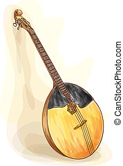 Slavic traditional musical instrument - domra.