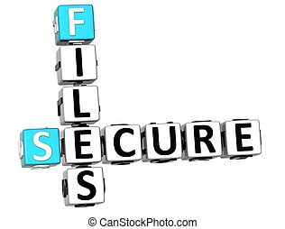 3DSecure File Crossword over white background