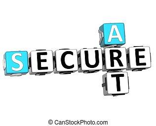 クロスワードパズル, 芸術, 安全である, 3D