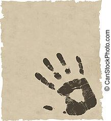 vector grunge hand