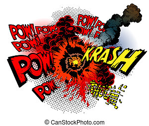 explosion - vector illustration - explosion