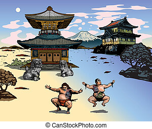 Japan Landscape buildings