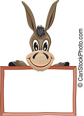 donkey and signboard - place for advertising your business