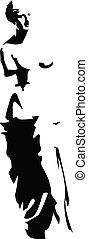 vector venus silhouette