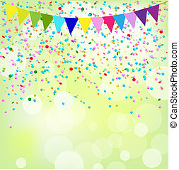 Birthday Poster, Vector Background