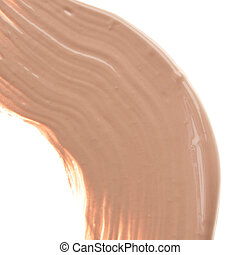 makeup foundation - smudged liquid foundation isolated on...