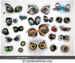 eyes - vector set of eyes