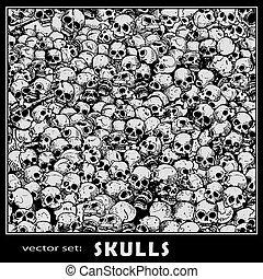 skulls pattern tile
