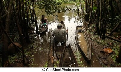 People With Boat, Rainforest