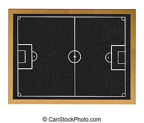 Football field - Blackboard with football field