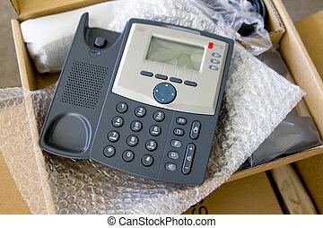 nuevo, Voip, teléfono, paquete