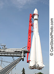 First spaceship Vostok in Moscow Russia