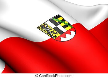 Flag of Upper Franconia, Germany. Close Up.