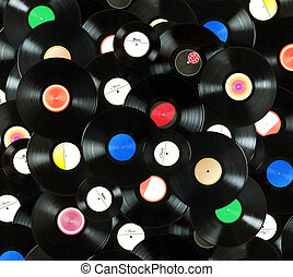Vinyl records background - Abstract music colorful...