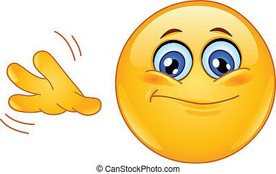 So so emoticon - Emoticon with so-so hand sign