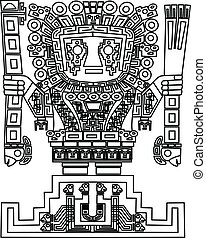 vector mayan and inca tribal symbols