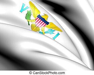vierge, îles, uni, Etats, drapeau
