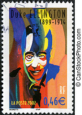 duque, 2002:, serie, estampilla, -, jazz, músico,...